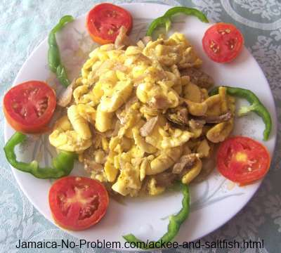 Ackee and Saltfish - the National Dish of Jamaica
