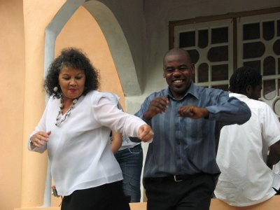 Astil Gage and Diana dancing in Beeston Spring