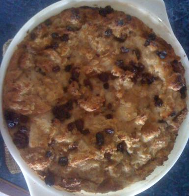 Island Style Bread Pudding ... fresh from the oven<br>Click other photos to enlarge