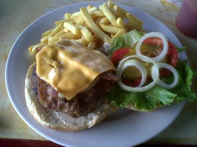 The Signature Burger from Mongoose Jamaica
