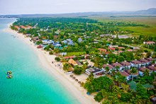 Aerial view of Negril's 7 Mile Beach