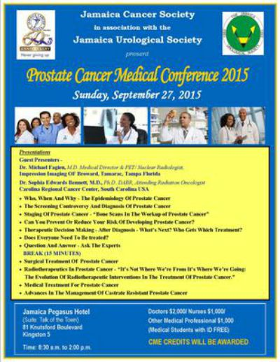 Jamaica Cancer Society Prostate Cancer Symposium 2015