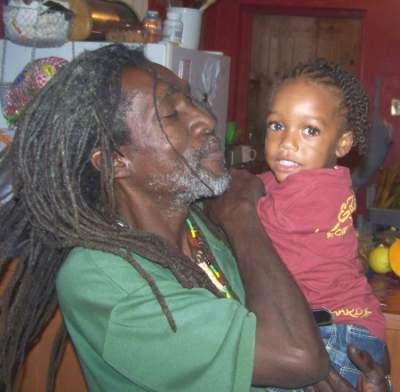 Ras Natango with His Godson