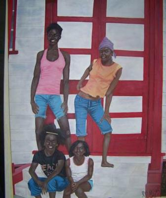 A Ras Natango Painting of Children
