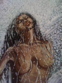 Ahhh...Ras Natango's Lady Under Waterfal