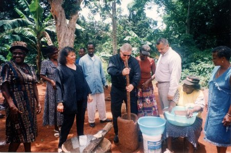 Sandals Boss visiting Resource Village in Manchester
