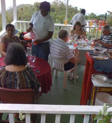 Visitors Enjoying the Cuisine at Ahhh...Ras Natango