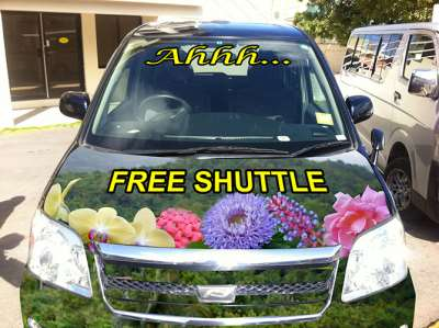 The Ahhh...Ras Shuttle Front View
