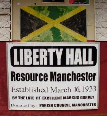 Marcus Garvey Plaque at Liberty Hall