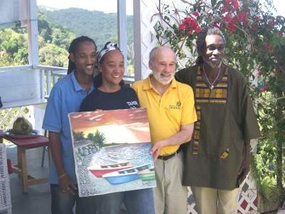 Ayale Tamika and Ian Williams with Louis D'Amore