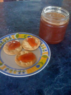 Guava Jelly on Crackers